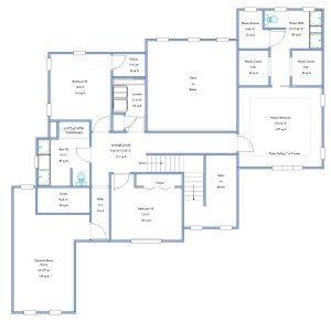 floor plan, upper level