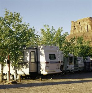 Campers at RV Park