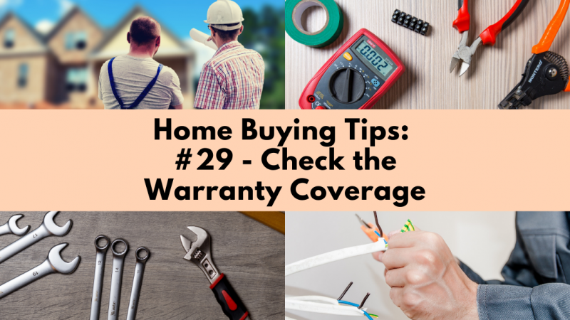 Home Buying Tip: Check the Warranty Coverage
