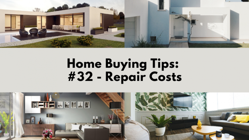 Home Buying Tip: Repair Costs