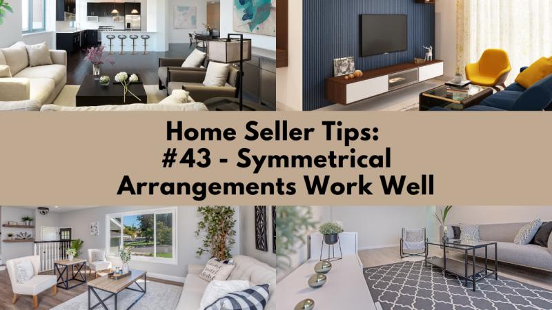 Home Selling Tip: Symmetrical Arrangements Work Well